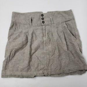ROYAL ROBBINS Gray Hemp Cotton Skirt Size 12